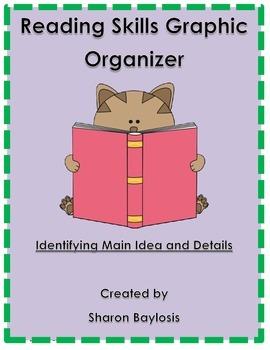 Reading Skills Graphic Organizer Main Idea and Details