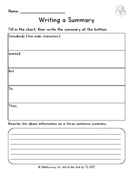 Reading Skills Graphic Organizers for Elementary Students