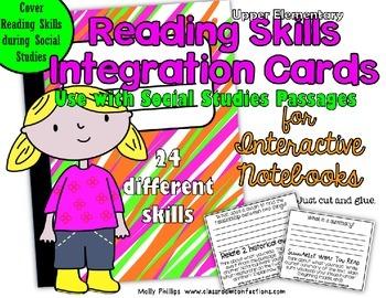 Social Studies Interactive Notebook Activities: Integrate Reading Skills