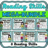 Reading Skills MEGA-BUNDLE- 8 skills-compare, context clues, cause