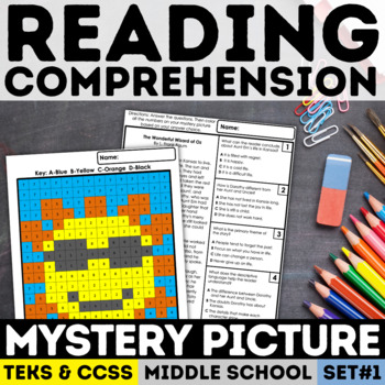 Reading Skills Mystery Picture - Sun