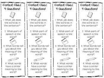 Reading Skills Pack: Context Clues Center Activities and Printables