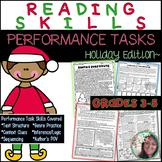 Reading Skills Performance Tasks Printables: Holiday Edition