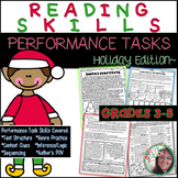Reading Skills Performance Tasks Printables: Holiday  Reading Skills Lessons