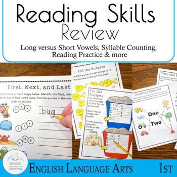 Reading Skills Review for 1st Grade Graduates