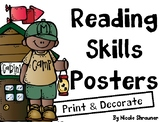 Reading Skills Posters-Camp Theme