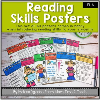 Reading Skills Posters: Cute, Colorful and COMPREHENSIVE