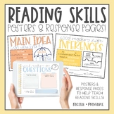 Reading Skills Posters & Response Pages