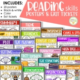 Reading Skills Posters with BONUS Exit Slips