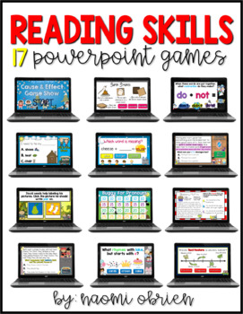 Reading Skills PowerPoint Games Bundle