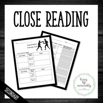 Reading Skills Practice Packet Scavenger Hunt