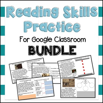 Reading Skills Practice for Google Class(State Testing)BUNDLE- Distance Learning