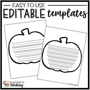 Reading Skills Pumpkin Template
