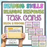 Reading Skills Reading Response Task Cards { Critical Thin