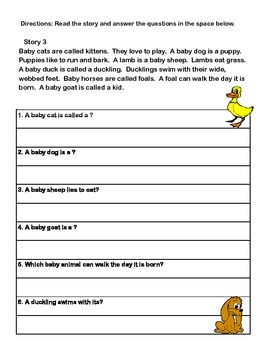 Reading Skills: Recalling Details Grades 2-3 CCSS