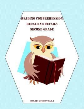 Reading Skills: Recalling Details Grades 2-3 CCSS