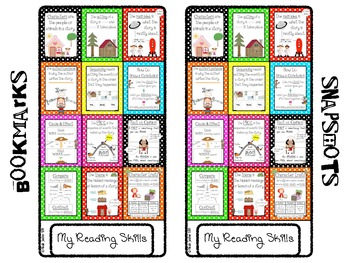 Reading Skills Reference Sheets and Bookmarks- UPDATED