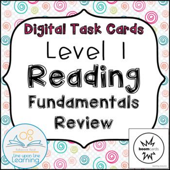 Reading Skills Review 1st Grade Digital Task Cards
