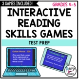 Reading Skills Interactive Review Game- Test Review- Test Prep