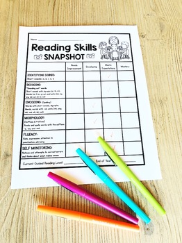 Reading Skills Snapshot