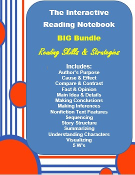 Reading Skills & Strategies Interactive Notebook BIG Bundle