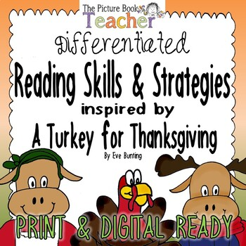 A Turkey for Thanksgiving Differentiated Reading Skills & Strategies Packet