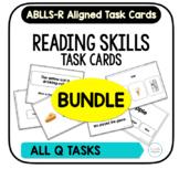 Reading Skills Task Card BUNDLE [ABLLS-R Aligned ALL Q TASKS]