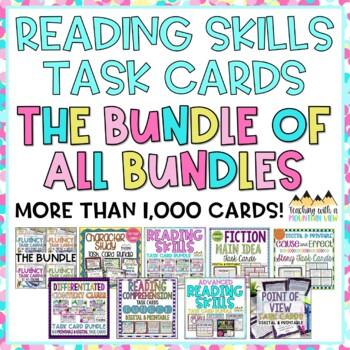 Reading Skills Task Card BUNDLE OF ALL BUNDLES!