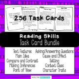 Reading Skills Task Card Bundle - Character Traits, Text Features, and More