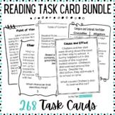 Reading Skills Task Card Bundle - Character Traits, Text F