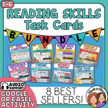 Reading Skills Task Card Bundle: 8 of the Best Selling Sets on TpT!