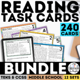 Reading Skills Task Card Bundle Complete Set