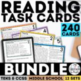 Reading Skills Task Card Bundle Complete Set   PDF & Digit