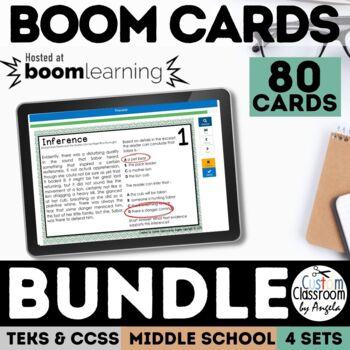 Reading Skills Task Card Bundle - Digital Boom Cards