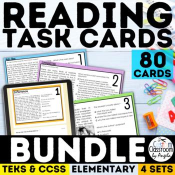Reading Skills Task Card Bundle Grades 3-5