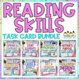 Reading Skills Task Card Bundle   Distance Learning   Google Classroom