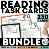 Reading Skills Task Card Bundle - Test Prep
