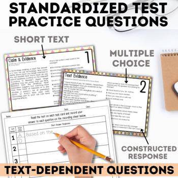 Reading Skills Task Card Mini Set - Test Prep