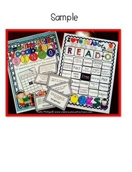 Reading Bingo: Reading Skills Vocabulary BINGO Game