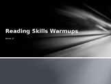 Reading Skills Warmups- 1 week
