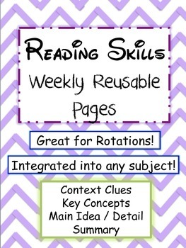Reading Skills Weekly Reusable Pages