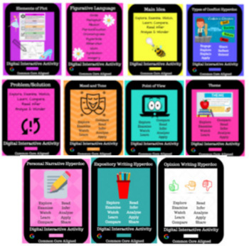 Reading & Writing Skills Hyperdoc Bundle