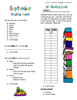 Reading Skills and AR Goal Tracker Freebie