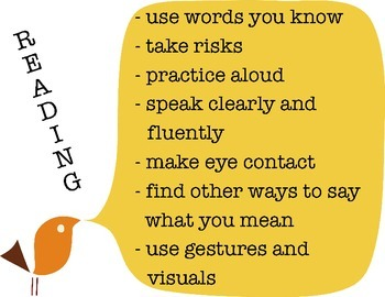 Reading Skills and Behaviours poster