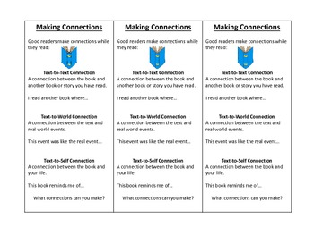Reading Skills and Strategies Bookmarks and Organizers