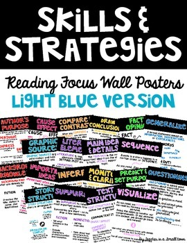 Reading Skills and Strategies Posters - Light Blue Version