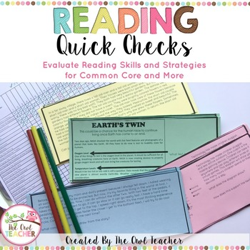 Reading Skills and Strategies Quick Check Assessments