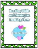 Reading Skills and Strategies Tracking Form
