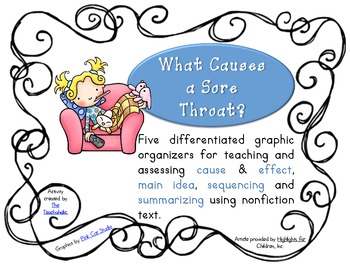 Reading Skills using Highlights Magazine articles - What Causes a Sore Throat?