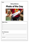 Reading Skills using Photos- Inferences 2 WEEKS OF WORKSHEETS